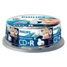 Philips CD-R 700MB 52xspeed printable spindle 25 stuks