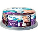 Philips DVD-R 4,7GB 16xspeed printable spindle 25 stuks