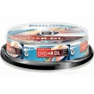 Philips DVD+R Double layer 8,5GB 8xspeed spindle 10 stuks