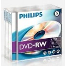 Philips DVD-RW 4,7GB 4xspeed jewel case 5 stuks