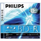 Philips BD-R Blu-Ray 25GB jewel case