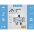 ESX-02-S Technetix tweeweg verdeler F-connector